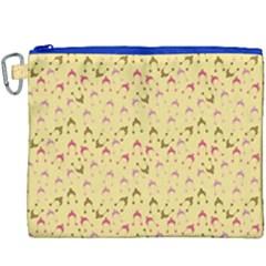 Hats Pink Beige Canvas Cosmetic Bag (xxxl) by snowwhitegirl