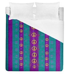 Peace Be With Us This Wonderful Year In True Love Duvet Cover (queen Size)