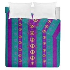 Peace Be With Us This Wonderful Year In True Love Duvet Cover Double Side (queen Size) by pepitasart