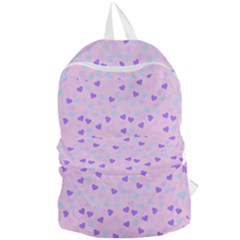 Blue Pink Hearts Foldable Lightweight Backpack by snowwhitegirl