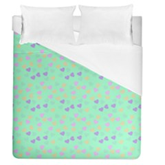 Minty Hearts Duvet Cover (queen Size) by snowwhitegirl