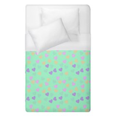 Minty Hearts Duvet Cover (single Size) by snowwhitegirl