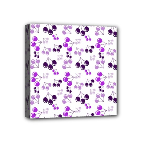 Purple Cherries Mini Canvas 4  X 4  by snowwhitegirl