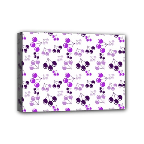 Purple Cherries Mini Canvas 7  X 5  by snowwhitegirl
