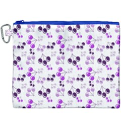 Purple Cherries Canvas Cosmetic Bag (xxxl) by snowwhitegirl