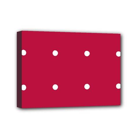 Red Dot Mini Canvas 7  X 5  by snowwhitegirl