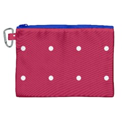 Red Dot Canvas Cosmetic Bag (xl) by snowwhitegirl
