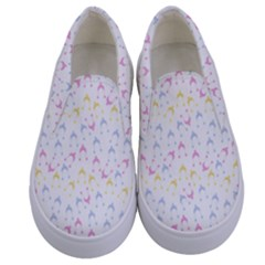 Pastel Hats Kids  Canvas Slip Ons