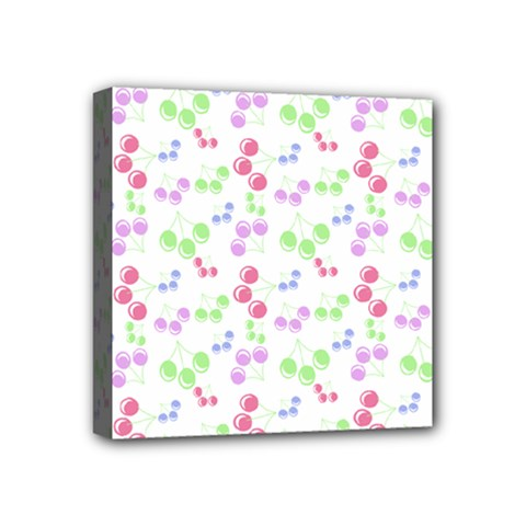 Candy Cherries Mini Canvas 4  X 4  by snowwhitegirl