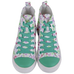 Candy Cherries Women s Mid Top Canvas Sneakers