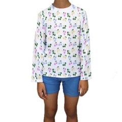 Green Cherries Kids  Long Sleeve Swimwear