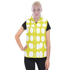 Big Dot Yellow Women s Button Up Puffer Vest