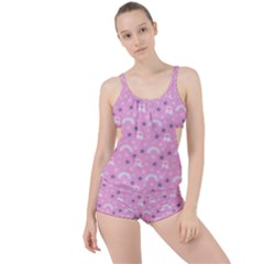 Music Star Pink Boyleg Tankini Set