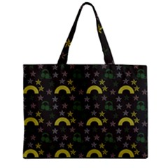 Music Star Dark Grey Zipper Mini Tote Bag by snowwhitegirl