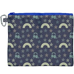 Music Stars Dark Teal Canvas Cosmetic Bag (xxxl) by snowwhitegirl