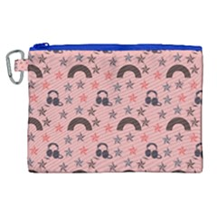 Music Stars Peach Canvas Cosmetic Bag (xl) by snowwhitegirl