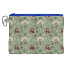 Music Stars Green Canvas Cosmetic Bag (xl) by snowwhitegirl