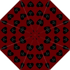Cupcake Blood Red Black Folding Umbrellas by snowwhitegirl
