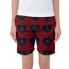 Cupcake Blood Red Black Women s Basketball Shorts by snowwhitegirl