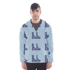 Deer Boots Teal Blue Hooded Wind Breaker (men) by snowwhitegirl
