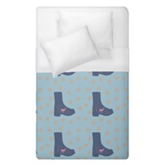 Deer Boots Teal Blue Duvet Cover (single Size) by snowwhitegirl