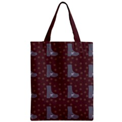 Deer Boots Brown Zipper Classic Tote Bag