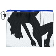 Pole Dancer Silhouette Canvas Cosmetic Bag (xxl) by Jojostore