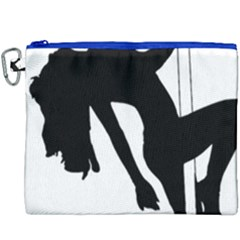 Pole Dancer Silhouette Canvas Cosmetic Bag (xxxl) by Jojostore