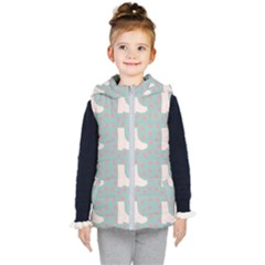 Deer Boots Blue White Kid s Puffer Vest