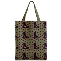 Deer Boots Green Zipper Classic Tote Bag
