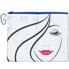 Makeup Face Girl Sweet Canvas Cosmetic Bag (xxxl) by Mariart