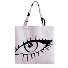 Drawn Eye Transparent Monster Big Zipper Grocery Tote Bag by Alisyart