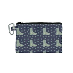 Blue Boots Canvas Cosmetic Bag (small) by snowwhitegirl