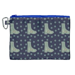 Blue Boots Canvas Cosmetic Bag (xl) by snowwhitegirl