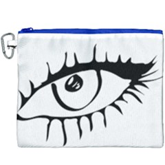 Drawn Eye Transparent Monster Big Canvas Cosmetic Bag (xxxl) by Alisyart