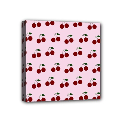 Pink Cherries Mini Canvas 4  X 4  by snowwhitegirl