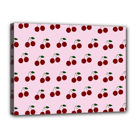 Pink Cherries Canvas 16  X 12  by snowwhitegirl