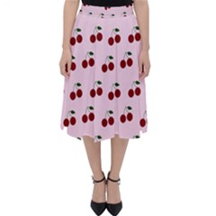 Pink Cherries Folding Skater Skirt