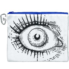 Big Eye Monster Canvas Cosmetic Bag (xxxl) by AnjaniArt