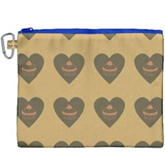 Cupcake Pumpkin Orange Grey Canvas Cosmetic Bag (xxxl) by snowwhitegirl