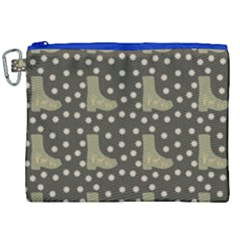 Charcoal Boots Canvas Cosmetic Bag (xxl) by snowwhitegirl