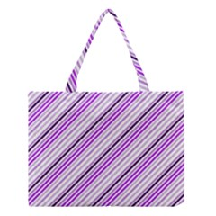 Purple Diagonal Lines Medium Tote Bag by snowwhitegirl