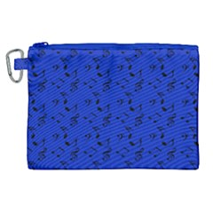 Royal Blue Music Canvas Cosmetic Bag (xl) by snowwhitegirl