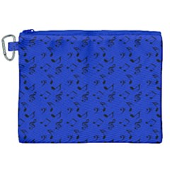 Royal Blue Music Canvas Cosmetic Bag (xxl)