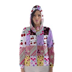 Quilt Of My Patterns Hooded Wind Breaker (women)