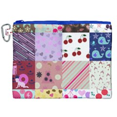 Quilt Of My Patterns Canvas Cosmetic Bag (xxl)