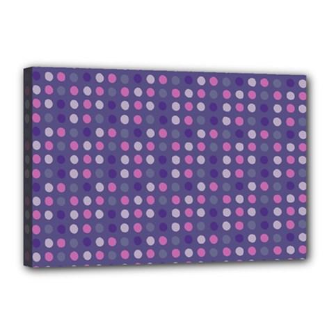Violet Grey Purple Eggs On Grey Blue Canvas 18  X 12  by snowwhitegirl