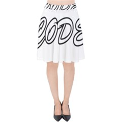 Code White Velvet High Waist Skirt by Code