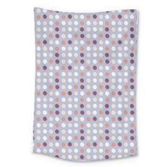 Pink Purple White Eggs On Lilac Large Tapestry by snowwhitegirl