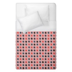 Grey Red Eggs On Pink Duvet Cover (single Size)